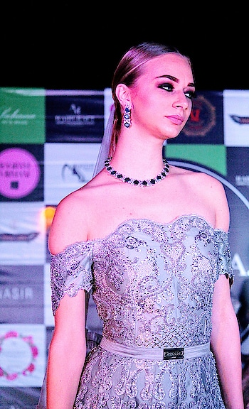 Princess vibes with #meshbynityabajaj  Making your memories priceless with our luxurious range of eveningwear. Grab our handcrafted collection named #mesh at #NityaBajaj  Shop us at 37 A Shahpur Jat, New Delhi www.nityabajaj.com Talent @i_senicanin  Jewelry @suhana_art_and_jewels  #fashionshow #fashionpreview #grey #silver #crystals #labelnityabajaj #NityaBajaj #fashion #model