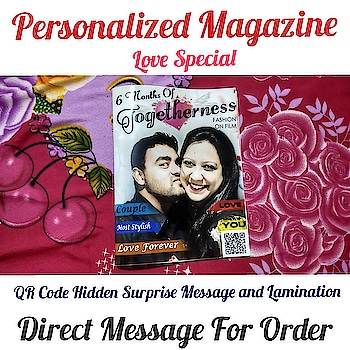 Personalized Magazine❣️ Couple Special🎁 4 Page 8 Side And 8 Page 16 Side Available Direct Message For Order @photo_art_store @gifts_shopping_time  @gift_online_store  @personalized_magazine Special🎁🎁🎁🎁🎁😘 😍SPECIAL PERSON😍 Keep Ordering😍😍 Birthday Couple Friendship Family Anniversary 😍😍 😍 DM for Order . #surprises#specialgift#happybirthday#birthdaygift #birthdaygifts#customisedgifts#uniquegifts #giftsforher#giftsforhim#giftsforcouple #personalisedcards#greetingcards#mosaicstories#colorful#memories#moments#friends#birthday#anniversary #weddings#gifts#customized#personalized  #photo_art_store #gifts_shopping_time  #gift_online_store  #personalized_magazine