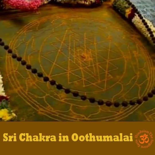Sri Chakra in Oothumalai (Oothuhill)   Tamil language, Sage Agasthya and Lord Muruga are inseparable according to both history and the scriptures.  When Agasthya came to Pothigai, he created the river Tambaraparani. He stayed in a Muruga temple in the place close to a waterfall. In course of time, this temple came to be known as Agasthya Temple. According to researchers, Agasthya wrote the Tamil Grammar Agathiyam from this temple.  It is believed that Sage Agasthya, during his journey in Tamilnadu  have visited this temple (Seelanaickenpatti-Oothumalai) where Lord Muruga graces in the child form.  Srichakra Devi with Yantras having 43 triangles (the diagrammatic representation of the Alogical Siva-Shakti) related to Shakti worship is installed in the temple. There is a hermitage also with a Rishipatni (wife of a sage) near the temple. On the other side, Sage Agasthya is sitting on a tiger skin under a tree. Kabila Rishi cave also is here whose form in depicted in a sculpture. The carving has a cow, a tree and a trident. Only in this temple Sri Chakra been installed by Agastiya muni. The cave itself has a special and unique vibration.   According to the history of the place (sthalapurana), Seven Rishis (Saptharishis) had their bath very early in the morning in a spring here, particularly at the time of the dawn of the New Moon day during the Shivarathri days and performed pujas to Lord Sadhasiva. That Shiva Siddha, Kanjamalai Siddha, Karadi Siddha, Palni Bogar lived here is mentioned in Kongumandala Sathagam and Papanasa Purana palm leaves. Rishi Suga as a parrot and Rishi Kanva performed penance here.  Vilwa is the holy tree in the temple. People pray to Sri Cahkra, Lord Balasubramaniar, Devi Bala Tripurasundari for all benefits in life. According to the locals many saints, yogis and siddhis are living in this area.🌹
