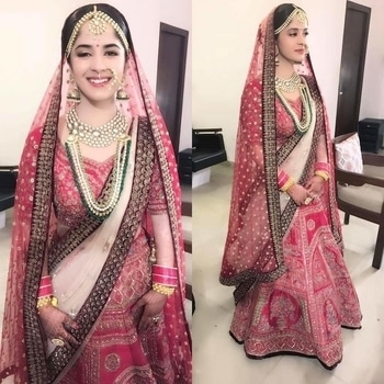 Tag a bride-to-be and share this spotless bridal look by _shrutisharma!  #WedLista #FashionForWeddings