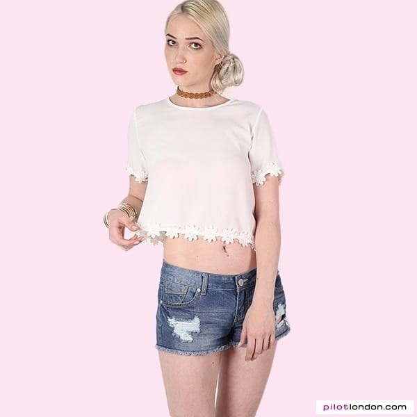 🔥HOT TOPS🔥💓 Get this daisy trim top @ https://www.pilotlondon.com/collections/tops-day-tops/products/kim-chiffon-daisy-trim-shell-top-cream #croptops #dailyfashion #stylecheck #casuals #fashion #tops #trends #lookbook #cute #style #shoponline #shopnow #PilotLondon