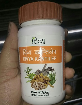 hello everyone, I am using this #facepack  from almost two months and I am experiencing even tone of my skin. As I had tanned skin and tried few of available products but none of them give such results as this Patanjali product has been given. I strongly recommend to all lovely ladies who are facing acne and dullness. Try this Divya kantilep and you will definitely love your skin. I have combination skin and some time don't try chemical products because it may lead to breakouts. This face pack does't make my skin dry. Also apply this face pack at night because it had some reddish colour (because of mehndi powder in it)  application- as mentioned take one spoon of this face pack in a bowl add few drops of rose water. make thick paste and apply all over your face including neck. make sure your are applying for more than one hour. after that wash your face with cold water. never use hot water to wash your face. I said Never. I too apply it for almost one and half hour. you can also add honey, milk or aloe Vera gel to make the paste. I haven't tried these. try this and comment.  #review