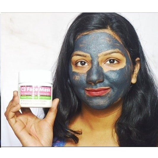 So i tried out the most famous face mask from @mamaearth.in and its their C3 Face Mask . . About the Product - C3 Face Mask for reduce pigmentation . . Special features- 1. Exfoliates and lightens dark spots 2. Brightens and tightens skin 3. Parabens free, dyes free and Toxins free 4. Clinically tested in Europe, Hypoallergenic and Fragrance free (Natural flower extracts for fragrance) . . Ingredients- Charcoal, Coffee, Clay amd fruit extracts such as Papaya + Cucumber + Mulberry. Papaya and Cucumber . . Price & Quantity- Rs. 599 for 100ml . . Impressions- 1. Easily available on amazon at a reasonable discount too. 2. For the price the quantity is quite suffient as you will require very little quantity for applying. 3. The face mask is very effective on all skin types. Mine is a Oily to Normal skin type and this face mask did made my skin glowing. 4. The mask removes all the dirt and dead skin from yoir face making it look more radiant and live as you can make the difference in the picture itself. 5. Overall i would definately say that this C3 Face mask has definately stood up to all my requirements . . #adorablewe #mamaearth  #skincare #facemask