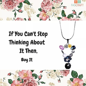 Let your jewelry speak your personality. Get this pretty necklace only on FasCraft. For prices visit www.fascraft.com  #jewelery #jewellery #pendant #online #shopping #onlinejewellery #fascraft #fascraftfestival #festival #festive #sale #festivity #fascraftjewellery