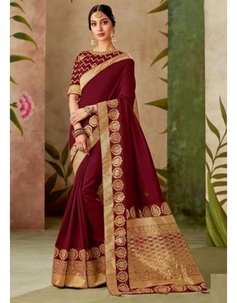 Saree to Impress !! Make a stylish statement with this stunning #saree available @ www.manndola.com  Grab Up To 65% OFF. Get additional 10% OFF on all orders above $199 using code EXTRA10 & extra 15% OFF on all orders above $299 by using code EXTRA15 !!  Show your love for ethnic wear with this Stunning Wine Embroidered Partywear Saree.This gorgeous saree comes with thread and zari embroidered silk saree with thread and zari embroidered silk blouse.  #newarrivals #newlaunch #wedding #partywear #silk #saree #embroidery #style #photography #instamood #instaupload #fashion #indianfashion #ethnic #usa #india #canada #australia #dubai #uae #mauritius #london #uk #shoponlinenow