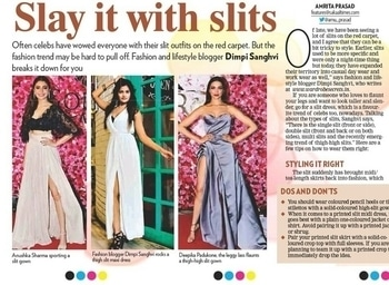 💓FEATURED IN SAKAAL TIMES💓 alongside Deepika Padukone and Anushka Sharma 😍. Now this is what I call a perfect example of hardwork paying off.  Read about my take on the recently emerging trend of thigh high slits and alot more on the link in my bio 👆 • • • #WardrobeSecrets #WSdaily #newspaper #enews #FashionBlogger #Fashiondaily #mumbaifashionblogger #mumbailifestyleblogger #LifestyleBlogger #lookbook #ootd  #Fashion #Style #picoftheday #published #slit #roposo #thighhighslit  #slits #slits #slits #slits #slits