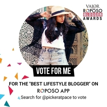 Hi everyone, this is to inform you that #roposo has gotten us bloggers this lovely way to make us happy as always.  This is my nomination for the best lifestyle blogger where I request you all to VOTE FOR ME on the #roposo app. You just have to download the app if not already done, and update it if it already exists on your phone. Then search for @pickeratpace and you will see a VOTE NOW option available.  So guys, if you like my work, please do vote and help me win this contest, just like you've all helped me accomplish so much till now. Thanks in advance! 😘  #soroposo #pickeratpace #indianblogger #foodblogger #reviewblogger #bloggerawards #roposoblogger #travelblogger #popxoblogger #popxonetwork #beautyblogger #lucknow #vajor #lucknowblogger #lifestyleblogger #fashionblogger