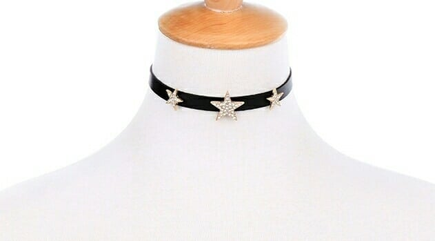 Star Choker Necklace  Color. Black Price@ 399 Free shipping in India