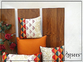 This summer, give your home a nature's touch with these Hand block printed cushion covers in earthy tones of Phulkari embroidery. . . . @shaliniganguliinteriors @theeastcoastdesi @preethiprabhu #aseesbyaakriti #asees #phulkari  #cushioncovers #phulkari_collection #threadwork #traditional_phulkari #indian_phulkari_designs #instafashion #Fashiondiaries # #homedecor #interiordesigninspo #interior #decor #designlife #homedesign #handmade #homesweethome #interiors  #furniture #luxury  #homedecoration #homestyledecor #interiordecor #instahome #interiordesigner  #homeideas #indianinteriors #indiandecorideas