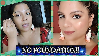 NEW VIDEO!! NO FOUNDATION, everyday wear makeup tutorial is now live on my youtube channel! Link in my bio 🙂 #newvideoalert #makeuptutorial #indianmakeup #nofoundationmakeup #dailymakeup #officemakeup #makeupforcollege