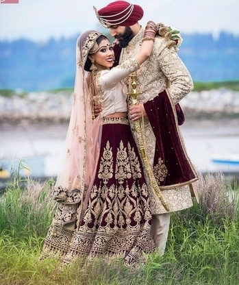 Now that I have found you, I will never let you go... Shop for such extravagant bride & groom ensembles from WedLista.com  Captured by: @jdphotostudio  #WedLista #FashionForWeddings