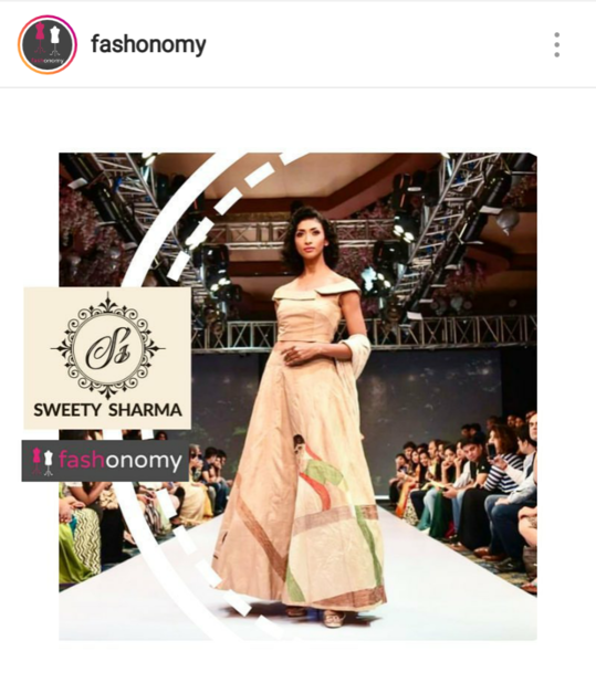 Hello Fashionista, My aim is to share all the 'Hatke' collection with you guys.  Thankyou for appreciating my work. https://blogfashonomy.wordpress.com/2018/05/14/anatomy-of-a-label-sweety-sharma/  https://www.facebook.com/SweetySharmaOfficial/
