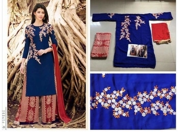 Beautiful dress -@1550/- INR Only,,  *Nariya Super Hit* *125-A, 125-B*  Fabric Details :-   Top :- Georgette With Embroidery Work. ,,,,     Bottom:- Santoon With Executive Print  ,,,,     Inner:- Santoon Attached ,,,,,    Dupatta:- Nazmin With 4 Side Lace ,,,,,, Size :- Max up to 46-50 (Up To Xxxxl) ,,,,, Style :- Straight Cut ,,,, Type :- Semi Stitched ,,,,, Wash :- First Time Dry Clean ,,,, Weight:- Up To 1 Kg ,,,,   Work: Embroidery Cross Stitch ,,,,    Ready To Ship  **WHATSAPP ME AT +91 9760614947** #lehenga#lehengacholi#indianfashion#indianweddings#sagan#mehndi#designerdress#delhi#mumbai#fashion#dallas#dallasindia#wedding#indianwedding#london#londonfashionweek#canada#australia#dubaifashion#dubaiethnic#womenfashion#trendy#latest#sareehyderabad#delhi#delhistreet#pune#bangalore#delhiwedding#floral,,