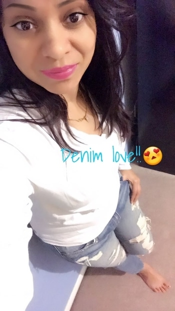 white tee and denims ..my fav outfit..i feel very comfy.in this.....its kind of my uniform..really😍#denim love#casual vibes#natural look#