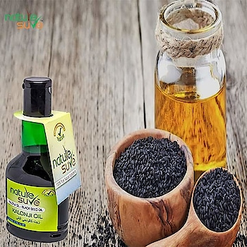 Benefits of using Naturesure's Kalonji oil.  -100% pure, cold-pressed oil extracted from Nigella sativa (Kalonji, Blackseed) seeds -Nourishes scalp and hair shafts -Useful in innumerable issues for all parts of the body -Can be applied locally or consumed orally  AMAZON LINK- https://amzn.to/2VPQrJD