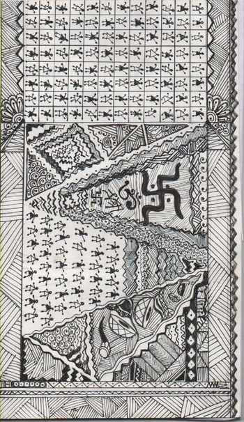 Ethnic Embroidery pattern Fashion illustrator : shal or shaz @rop @roposotalks @styledotme @shalorshaz