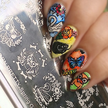 #nails #nail-addict #nail-designs #nails2inspire #nailpolish #nailartblogger #nailpaint #nailpolishlover #nailstyle #bornprettystore #stampingnailart #stamping #stampingplatereview #spring #springsummer #spring fashion #spring-collection #springnails #roposo #roposo-style #roposo-fashiondiaries #roposo-makeupandfashiondiaries #ropsostylefiles #roposo-good #roposo-style #roposo-fashion #roposo-creativeartist