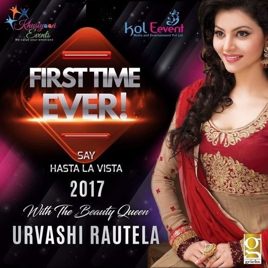 Kol Events presents hastalavista.. bring on the heat on 31st night. #KolkataEvent #UrvashiRautela #31stNight