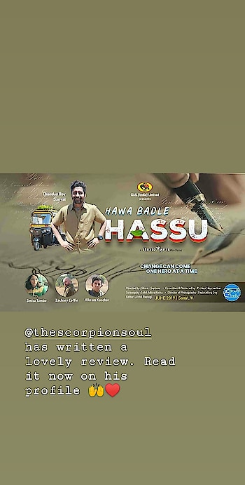 Reposted from @thescorpionsoul  -  HAWA BADLE HASSU REVIEW  STORY:- It's a sci-fi thriller story of autorickshaw driver HASMUKH PANDEY AKA HASSU,  who is environmentally conscious and he keeps motivating people & brainwashing them to change their life choices to more eco friendly choices.  ALERT:- This web series gives us a strong message on environment sustainability & climate change.  RATING:- 3/5  POSITIVES:- HAWA BADLE HASSU is very rare combination of environmental thriller & sci-fi. I really liked the concept of environmental sustainability & climate change with well balanced mixture of sci-fi & thriller. You will have a good time for sure. The most interesting part of this series is, it's engaging storytelling. It's really convincing & way ahead of 2019. This is what we need in Indian web series. An intense & gripping storytelling. The script is also great & the way they have bringing up the message based on global warming & climate change is amazing. @iamroysanyal as HASSU is like breathe of fresh air. This character is amazing. His smiling face & fearless confidence makes him a lovable character of 2019. His lessons on environmental change, pollution & global warming is thought provoking. His dialogues are amazingly witty. He is a soul of this mini web series. @zacharycoffinpage , @vikramkochhar , @smitatambe , @anisaaniiam , @kangannangia , @nainasareen, @umang_khanna, @taranjit.official  are amazing in their roles. The background music will give you a spooky feeling for sure. The cinematography is visually stunning. We need more web series like this where we can see a unique way of storytelling with a great storyline. I'm hoping for season 2 of HAWA BADLE HASSU. .  NEGATIVES:- There's more focus on HASSU'S character & because of it other side characters like aarti,radhey GOFCON leader gets very little time of development. It lacks a great climax. This web series offers us really less elements of sci-fi.  HIGHLIGHTS:- 1. @iamroysanyal performance  2. Lesso