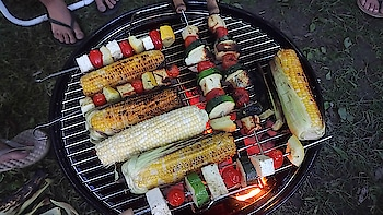 #camping2018 #berkshire #grilledchicken #grilledvegies #camplife #fun #friendsandfamily #afteralongtime #nature #weekendtrips #summer