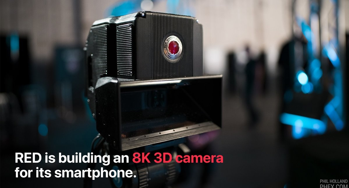 """#red  is partnering with Lucid for an 8K 3D camera that will work with its incoming Hydrogen One smartphone. The videos can be displayed in 3D on the Hydrogen One's """"holographic"""" display. #RedHydrogen #HydrogenOne"""