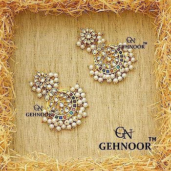 When Gorgeousness is right in front of your eyes each day! 💖 Presenting Pretty Navratna Chandbalis adorned with Fine White Pearls! 💚 . Grab these Beauties at a Flat 10 percent discount, Offer Valid till midnight of 13th May 2018. . www.gehnoor.com 💻 . FREE SHIPPING anywhere in India 🚙 . Cash On Delivery Available across India 💲 . WhatsApp at 07290853733 📱 . www.facebook.com/Gehnoor/ . gehnoor@gmail.com 📝 . #bride #goldjewellery #kundannecklace #traditionaljewellery #indianbride #photooftheday #instabride #bridalwear #bridaljewellery #tags #like #likeforlike #followfollow #followus #followback #gehnoor #earrings #chandbali #kundan #pastel #pastelshades #usa #canada #uk #saudiarabia #uae #choker #navratna #multicolour