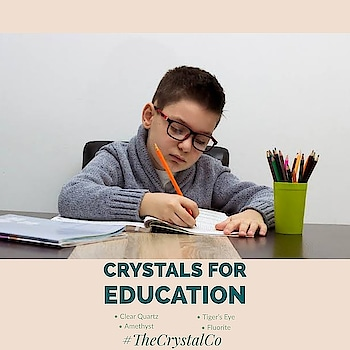 Looking for crystals for studying, mental focus or memory for your child?  With the pressure to get everything done, it's easy to get overwhelmed and lose focus. However, healing crystals have been around for centuries and provide healing properties that can give your child a sense of peace and mental clarity, which is something that is especially useful when under a lot of stress.  These crystals can help if your child is a student taking exams, or if you are learning something new or researching anything. ••• Order one of your own @tanveey  ••• Crystals for Education 👇 Never underestimate the power of CLEAR QUARTZ! This crystal will bring you mental clarity, greater focus and help you retain information. TIGER'S EYE is a great crystal for study and research. This golden crystal helps you stay focused, when there is a lot of information to absorb. It can help you filter out mental distractions. FLUORITE is a true crystal of the mind. You can use this crystal for support while doing all forms of research. Fluorite can also be used for increasing mental focus during study.  CARNELIAN is a crystal that definitely pulls its weight when it comes to helping out students. Carnelian helps to promote motivation and creativity, Carnelian can enhance one's focus and concentration. AMETHYST The crystal of detox will help you relieve confusions from your mind. Amethyst is excellent for exams as it clear doubts and keep your mind ready for the exam. SUGILITE contains powers to enlighten and make your brain powerful. For intelligent students who want to achieve more in their exams, sugilite is the best. TURQUOISE is a good crystal to also help keep your mind and thoughts clear. It has been included with these crystals for studying because it is also one of the best crystals for stress and worry. Something you may be experiencing with academic study. #crystal #education #studying #academy  #stress #worry #clear #thoughts #mind #student #confusing #exams #motivation  #creative  #memories  #focus  #tanveeykapur  #concentration