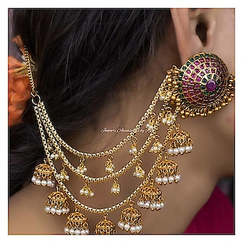 Get the look with this gorgeous bahubali inspired jhumkas 💓  Dm for bookings  #royal #jewels #jewellery #art #heritage #handpainted #_jaipuri_jewels #beautiful #amazing #camera #shoot #shooting #photographers #picture #bridalwear #dubai #sharjah #bangkok #ontario #canada #punjab #chandigarh #punchkula #royalty #sardaar #sardaari #jatt #makeup #hudabeauty
