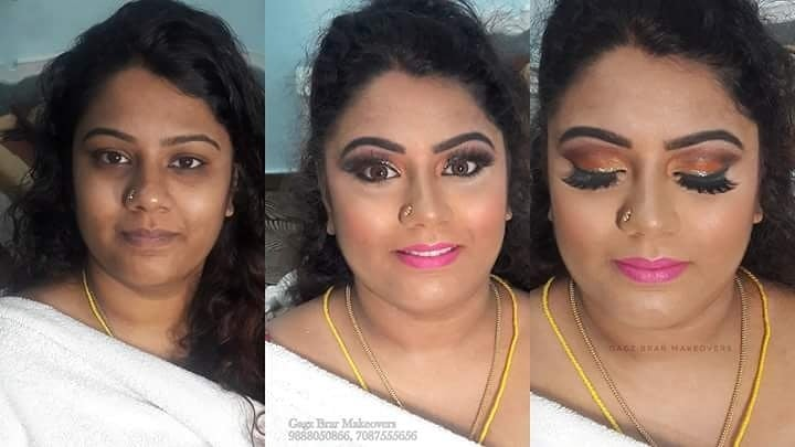 #mua - Gagz Brar #bride - Swetha  booking - 9888050866 , 7087555656  Before and after #reception #makeover #transformation 😍 #Chennai #bride got #married in #Shimla #hd #airbrush #bridal #makeover #glossy #look #cheeksonfleeks #contour #highlighting #pink #matte #lips #makeupartist #hairstylist #GagzBrar #gagzbrarmakeovers #BeautyStation #makeupatyourvenue
