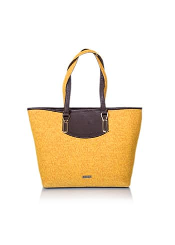 This bright yellow tote bag is your perfect companion for the day. Make it yours - find it on Veuza.com or amazon.in #bags
