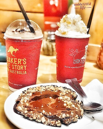 ❓ Right: Pineapple Delight Cakes Shake.  ❓Left: Iced Mocha.  ❓ Front: Nutty Caramel Tart.  📍Nik Bakers, Greater Kailash. . . . 🥤🥤Follow @unblushedlife🥤🥤 . . . #unblushedlife  #blogger  #igers #instagramer #instadaily #instaphotos #foodpicsdaily #followforfollow #like4like #foodgasm #foodiegram #foodlove #sinful #Delhifoodguide #foodporn #foodlover #foodshot #foodiesofinstagram #soulfood #omnomnom #food52grams #foodtalkindia #tasty  #vsco #trending #chandigarh #delicious #delhi #india . . . @oneplus_india @zomatoin @swiggyindia @ubereats_ind @lovenikbakers