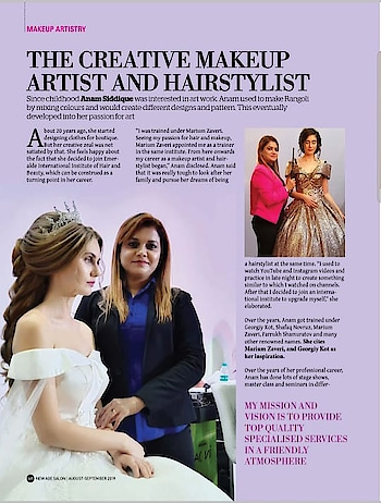 ANAM'S BRIDAL MAKEOVER  #anamsiddique #hairstylistworldwide #hairstylist #makeupartistindia  NEW AGE SALON MAGAZINE