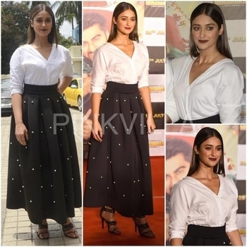 Yay or Nay : Ileana D'Cruz in Zara and Sameer Madan.Ileana D'Cruz attends the trailer launch of Mubarkan in a monochrome outfit...