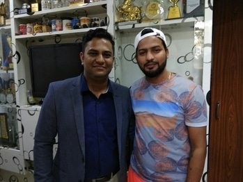 with The #indian  #hockey  #sticker  himself Mr. Yuvraj Walmiki  I  #wish  #you  A #lots Of #success  #and A #great  #career  #ahead  On #your  #birthday  #today  . #god  #blessyou