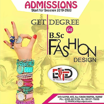 👉👉 Make Your Passion Your Profession 😍😍  Apply Today for Undergraduate, Postgraduate Degree, Diploma #FashionDesigningCourse, #InteriorDesigningCourses & #TextileDesigningCourses.  🎓 Admissions Open for 2019-20. For Inquiries Call Admission Helpline ☎️ +91 9812775538 or visit http://www.eifdpanipat.com  #EIFDPANIPAT #EliteInstituteoffashiondesign #fashion #fashiondesign #fashiondesigninginstituteinpanipat #fashioninstituteinpanipat #EIFDAdmissions2019 #fashion_design_courses #interior_design_course #Eifdians #textile_design_courses #Google #Googleimages #fashiondesigningcourses #fashiondesigninginstitutes #fashiondesigningcolleges #CareerinFashion #Panipat #karnal #gohana #Sonipat #Samalkha