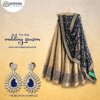 Pair up these beautiful earrings with your favorite wedding outfit! Save 40% on diamonds #weddingseason #diamondjewellery #IndianWeddings #WeddingJewellery #Diamonds #Shaadi #WeddingOutfits #SarvadaJewels#roposo #roposolove #roposofashion #soroposofashion