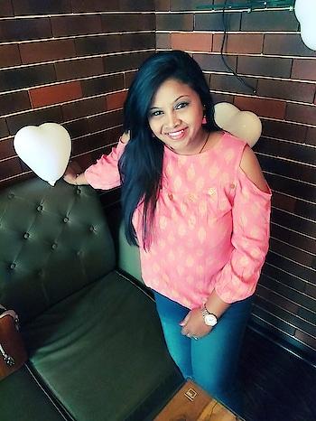 #pinktop #poseforcamera #fav #tasselearrings #smilingface #keepitclassy