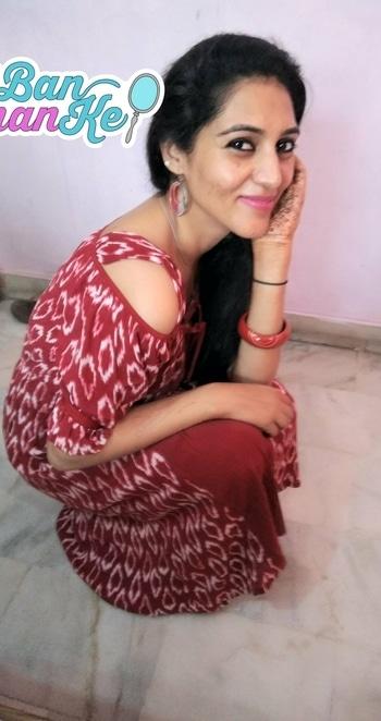 #roposotalenthunt #mynewlook #lookcreater #jabongindia #dressonline #facesindia #magicaleyes #maclipstick milanmode #lotusherbals dailytint moisturizer #earings big handmade #evening #casuallook #banthanke