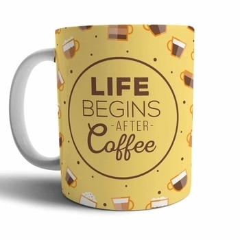 """Coffee lovers, grab this exclusive """"Life Begins After Coffee"""" mug now! Hurry, limited stocks available."""