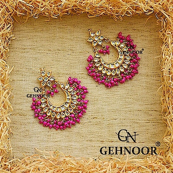 Pink Awesomeness! 💟 We still can't stop drooling over these Stunner Chandbalis adorned with Rani Pink Fine Beads that add the perfect amount of drama to any attire! 👍💟 . www.gehnoor.com 💻 . FREE SHIPPING anywhere in India 🚙 . Cash On Delivery Available across India 💲 . WhatsApp at 07290853733 📱 . www.facebook.com/Gehnoor/ . gehnoor@gmail.com 📝 . #bride #goldjewellery #kundannecklace #traditionaljewellery #happy #wedding #celebritywedding #destinationwedding #indianbride #bridechilla #photooftheday #instabride #bridalwear #bridaljewellery #lehnga #igers #tags #like #likeforlike #followfollow #followus #followback #gehnoor #earrings #chandbali #pink #ranipink #kundan #pearl