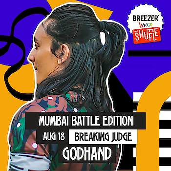 Last Breezer vivid Shuffle qualifier happening this weekend in Mumbai.See you all there. #bboy #godhand #breezervividshuffle #breezervivid #livelifeincolour #dance #judge #roposostar #roposobeauty