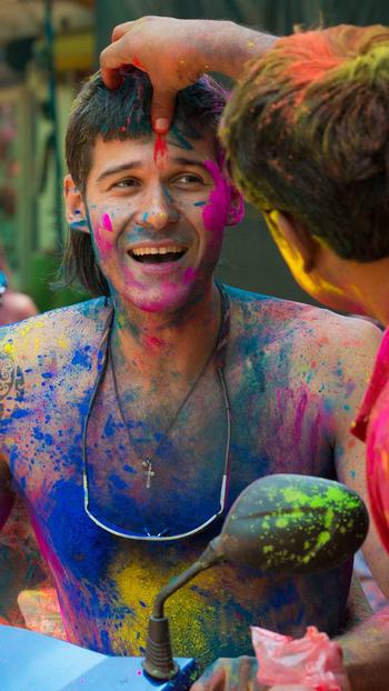 #holi #colors #bright #play #enjoy #chill #look #festival