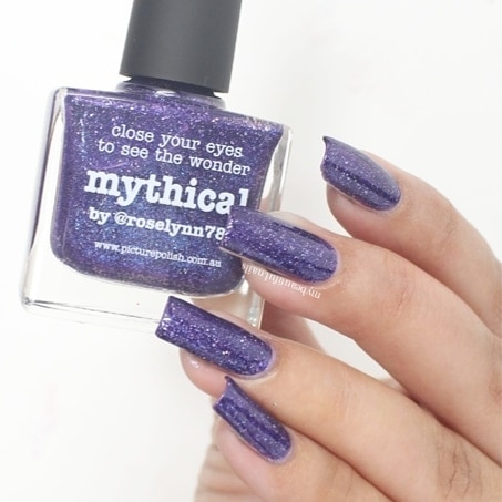 piCture pOlish Mythical Swatch.  #Nails #Nail #NailPolish #NailPolishAddict #NOTD #NailPolishLover #NailstaGram #NailAddict #NailSwag #NailsOfInstagram #NailsOfTheDay #Nails2Inspire #NailSwatches #PicturePolish #ManiOfTheDay #StampedNails #NailArt #NailedIt #squarenails #LongNails #PolishLicious #PicturepolishSwatch #NailBlogger #SimpleNailArt #IndianNails #IndianNailArtist #IndianNailArt #NailArt #NailsOnFleek #scra2ch