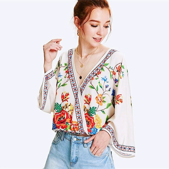 Fresh New Arrivals added to our uber cool collection! Buy this Patchwork Floral Beach Blouse at just ₹1380.00 . | Cash on Delivery with Easy Returns & Exchanges || Up-to 100%* Money Back Guarantee! | Satisfaction Guaranteed | .  #poshgrid #style #newarrival #tops #party #jumpsuit #romper #dress #partywear #blouses #trendy #girls #topshop #ootd #women #photooftheday #india #trending #womensfashion #vogue