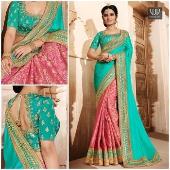 Buy Now @ https://goo.gl/2M2NiD  Sumptuous Pink,Yellow Color Jacquard Satin Designer Saree  Fabric-Jacquard, Satin  Product No 👉VJV-NAKK4077  @ www.vjvfashions.com  #chaniyacholi #ghagracholi #indianwear #indianwedding #fashion #fashions #trends #cultures #india #womenwear #weddingwear #ethnics #clothes #clothing #indian #beautiful #lehengasaree #lehenga #indiansaree #vjvfashions #bridalwear #bridal #indiandesigner #style #stylish #bollywood #kollywood #celebrity #outfits #vjvfashions #sarees
