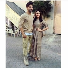 Varun and Alia spotted twinning as they are out to promote their upcoming movie Badrinath Ki Dulhania.