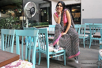 The lovely @eishachopra in #SpotbyNityaBajaj in association with @thestylestamp and @inaayajewelry  Grab our signature #pantsaree this summer in the fun polka print perfect for that destination wedding in your mind. It's fun, it's eclectic and it's effortlessly stylish. Even #thestylestamp approves!! Shop us at www.nityabajaj.com Or DM us for enquiries. Makeup @makeupbyshagun Hair @deepaksheshodiya  #labelnityabajaj #NityaBajaj #spotsr19 #SPOT #Polkalove #polkadots #spots #conceptsaree