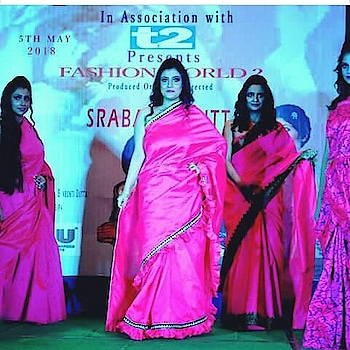 Fashion World 2  #FashionShow #DesignerSaree DesignerShowCase2018 #Showstopper #Ontheramp #OrdnanceClub