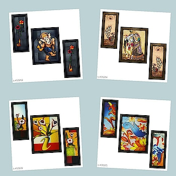 Check bio and dm me for shopping Catalog Name: *Spiritual Wall Paintings Vol 10*