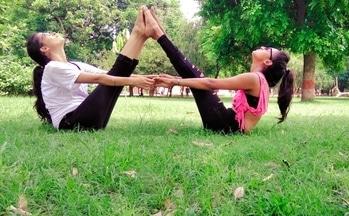 Finally coming  together for the for the first tym on blog... ''Yoga means addition - addition of energy, strength and beauty to body, mind and soul.'' #kiranlohani  #priyankatiwari . . . . .  #thefragranceofartistry #yogaforlife #women #yogapants  #yogalover  #fitness #thegoodquote #yogainspiration #yogaeveryday  #yogaeverywhere #yogaposes #yogachallenge  #igyogi #womenfitness #babaramdev #india #health #yogapants #yogajoy #indianblogger #usa #fitness #health #lucknowbloggers #lovegetsloveinreturn #togetherness #pose #tank #highpony